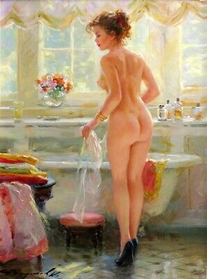 Handpainted Nude Girl Oil Painting On Canvas Modern art for home decor - N103B