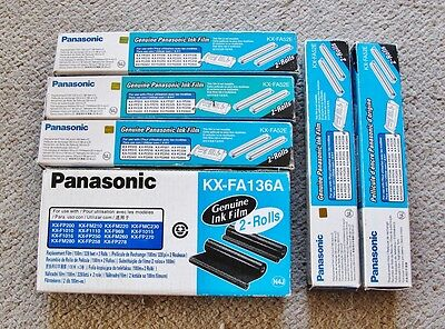 Panasonic Fax ink film rolls. KX-FA136A and KX-FA52E. 12 Rolls. Genuine