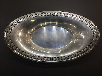 Antique Sterling Silver Pierced Bread/Serving Bowl 180.5 Grams