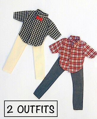 New Barbie Ken Doll outfit clothing clothes t/shirts shorts - set of 2 outfits