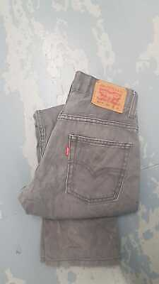 Levi Strauss 511 Slim Fit Red Tab Jean - Age 12 (W26 L26) - Grey