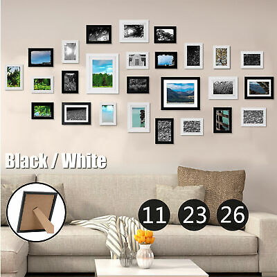 Multi Size Photo Picture Frame Set Home Décor Living Room Collage Wall Art Gift