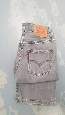 Levi Strauss 514 Slim Straight Red Tab Jean -  (Age 10) W25 L25 - Grey
