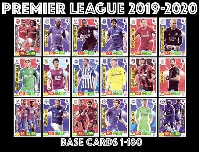 Panini Premier League Adrenalyn Xl 2019/20 Base Cards 1-180 Buy 4 Get 10 Free