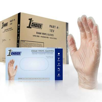 1000 Vinyl Gloves | Clear & Blue Powder Free Disposable Gloves | Multi Brand