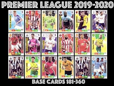 Panini Premier League Adrenalyn Xl 2019/20 Base Cards 180-360 Buy 4 Get 10 Free