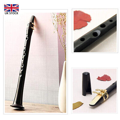 Pocket Mini Saxophone Portable Little Sax Alto Mouthpiece +Carrying Bag Black UK