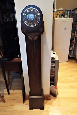 Oak Grandmother Westminster chiming clock