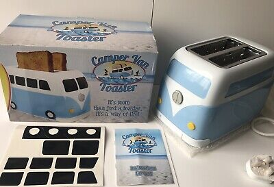 Brand New Boxed Blue VW Camper Van 2 Slice Toaster By Fizz Creations
