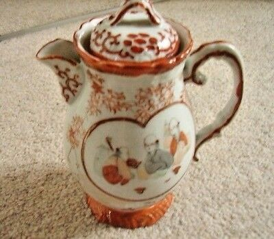 Japanese Kutani Victorian antique Meiji period,c.1880 porcelain lidded milk jug