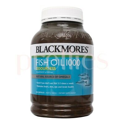 Blackmores Odourless Fish Oil 1000mg (400 Capsules - Green) (9300807287354)