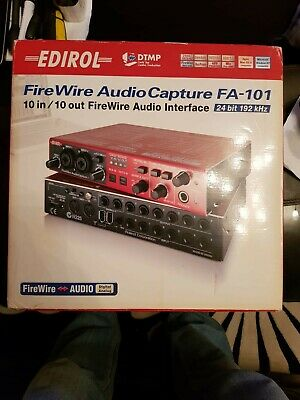 Roland Edirol.fa101 -10 In 10 Out Audio Interface 24Bit 192Khz    Vguc Boxed
