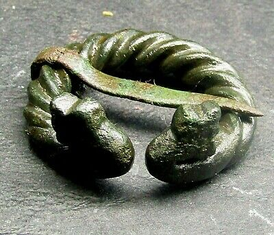 Ancient Bronze Viking Dragon. FIBULA.