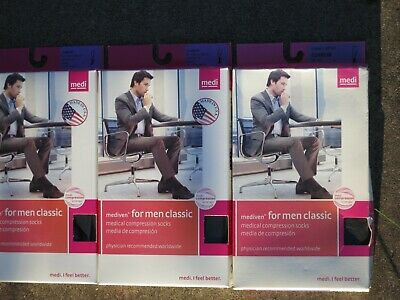 3 pair mediven for men classic, 30-40 mmHg, Calf Tall Compression Stockings