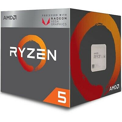 AMD Ryzen 5 2400G 3.6 GHz 4 Core 8 Thread 4 MB Cache AM4 CPU Desktop Processor