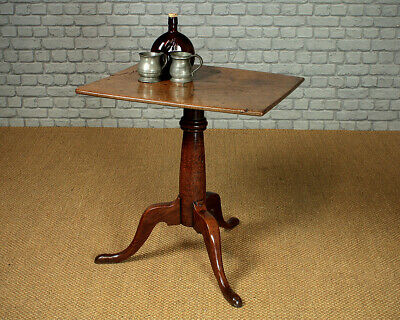 Antique Primitive Oak Tripod Table c.1800.