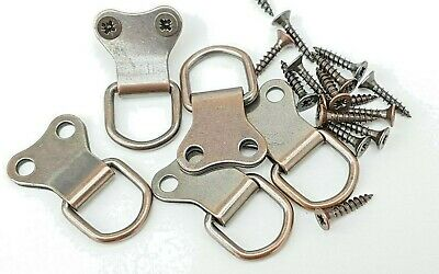 Picture Frame Double D Rings + Screws Bronzed Canvas Hooks Hanger
