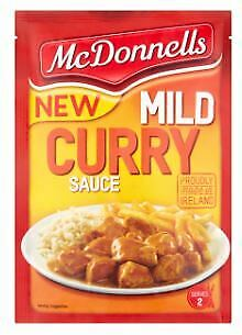McDonnells Mild Curry Sauce Sachet Made in Ireland 50g Pack of 2