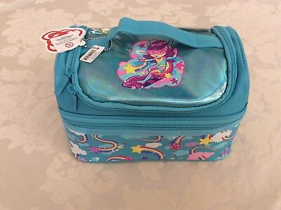 New Smiggle Double Layer Lunch Box Blue