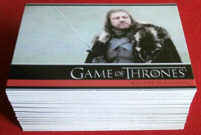 GAME OF THRONES - Season 1 - Complete Base Set (72 cards) - Rittenhouse 2012