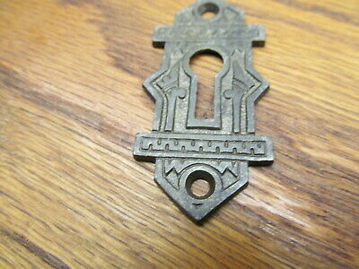 Old Cast Iron  Keyhole Escutcheon...eastlake ?? Ornate Detail...