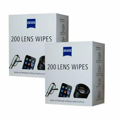 ZEISS Lens Wipes - Pack of 400 -  ( Pack of 2 ) FREE P & P .