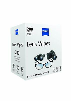 New Zeiss Lens Cleaning Wipes Pre Moist Sachet 200 Pack wipes value pack