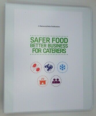 2019 Safer Food Better Business SFBB Caterers Pack & 13 Month Diary & CD & Sign