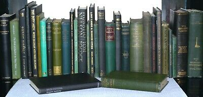 30 Various Shades of GREEN & BLACK Books - Wedding Decor, Resale Collection