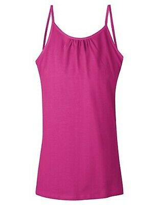 Hanes Girls Cami Top with Built In Shelf Bra - 4 COLORS - XS-XL