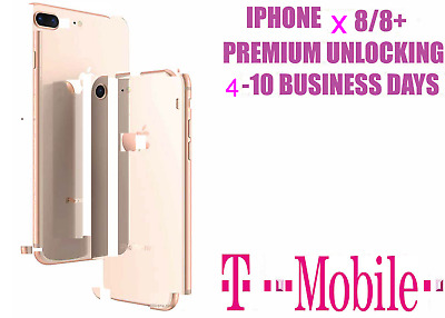 T-Mobile Iphone X, 8/8+,7/7+,Or Under  Factory Unlocking