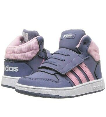 Details about GIRL'S ADIDAS HOOPS MID 2.0I DB1939 GREYPINKWHITE TODDLER SHOES