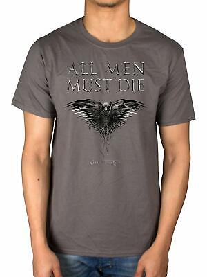 Game of Thrones Mens All Men Must Die T-shirt, size medium, official HBO product