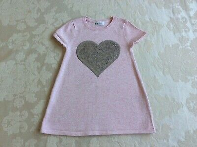 H&M Girls Tunic / Dress 2-4 Years Pink Great condition
