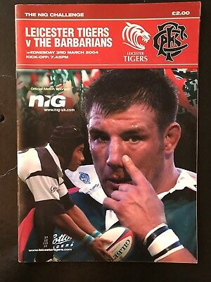 70331 - Leicester v BARBARIANS 2004 Rugby Programme 3rd April BaaBaas 03/04