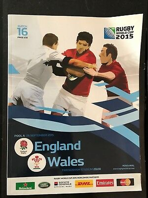 9753 - Rugby World Cup 2015 - England v Wales Programme 26/09/2015 RWC 26th Sept