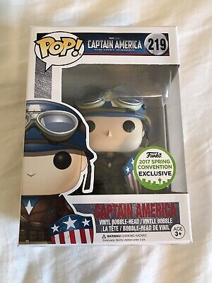 Captain America Funko Pop #219 Spring Convention Exclusive 2017 Marvel Avengers
