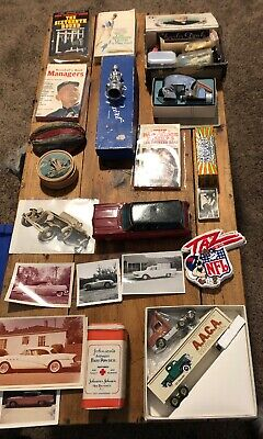 vintage junk drawer (40 Pcs Total) Tin Car/ Winross Toy Truck/Old Photos & More
