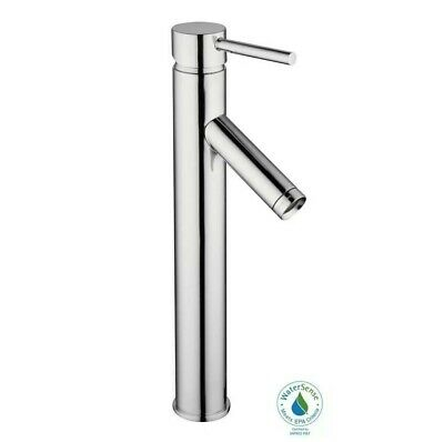 Bathroom Faucet 1-Hole Single-Handle Vessel with Drain Solid Brass Body Chrome