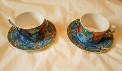 Set of 2 Victoria & Beale Forbidden Fruit 9024 Cup and Saucer