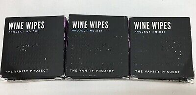 Wine Wipes The Vanity Project Compact Case Of 15 Wipes (Pack Of 3)