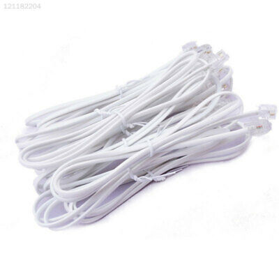 BEEB Telephone Line Broadband Phone Wire Connector Lead Modem Router Cable White