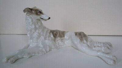 Hutschenreuther-Rosenthal Porcelain Figurine Borzoi RussianWolfhound M.h. Fritz