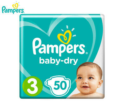 Pampers Baby-Dry Crawler Size 3 6-10kg Nappies 50-Pack
