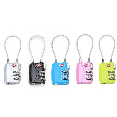 Resettable 3 Digit Combination Lock Travel Luggage Suitcase Code Padlock MP