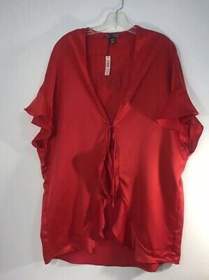 Victorias Secret Red Satin Robe / Tunic One Size Fits All