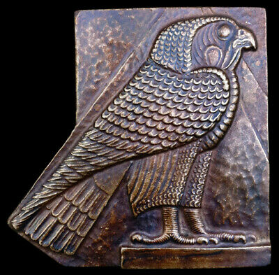 Egyptian Horus Falcon sculpture Relief plaque Dark Bronze Finish