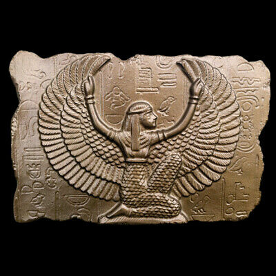 Egyptian Goddess Isis sculpture Relief plaque in Bronze Finish