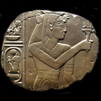 Isis or Egyptian Queen sculpture Wall Relief plaque in Bronze Finish