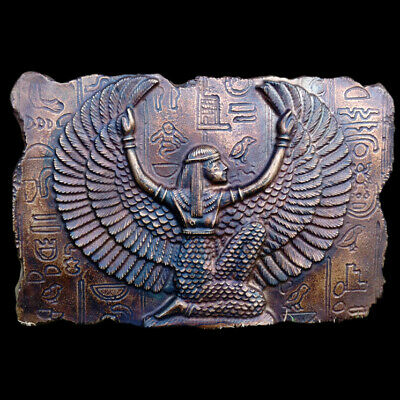Egyptian Goddess Isis sculpture Relief plaque in Dark Bronze Finish replica